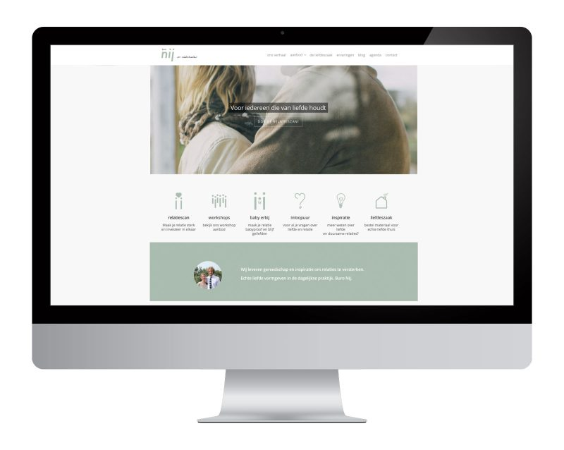 website ontwerp buro nij logo