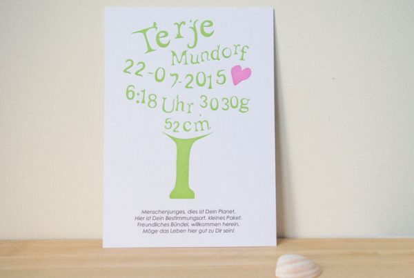 geboortekaartje groen natuur boom