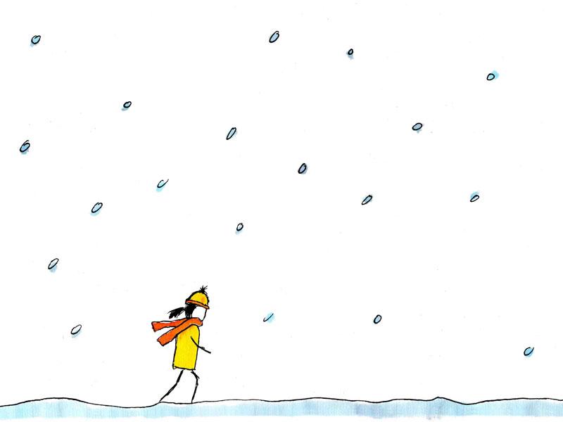 illustratie winterwandeling kerst winter