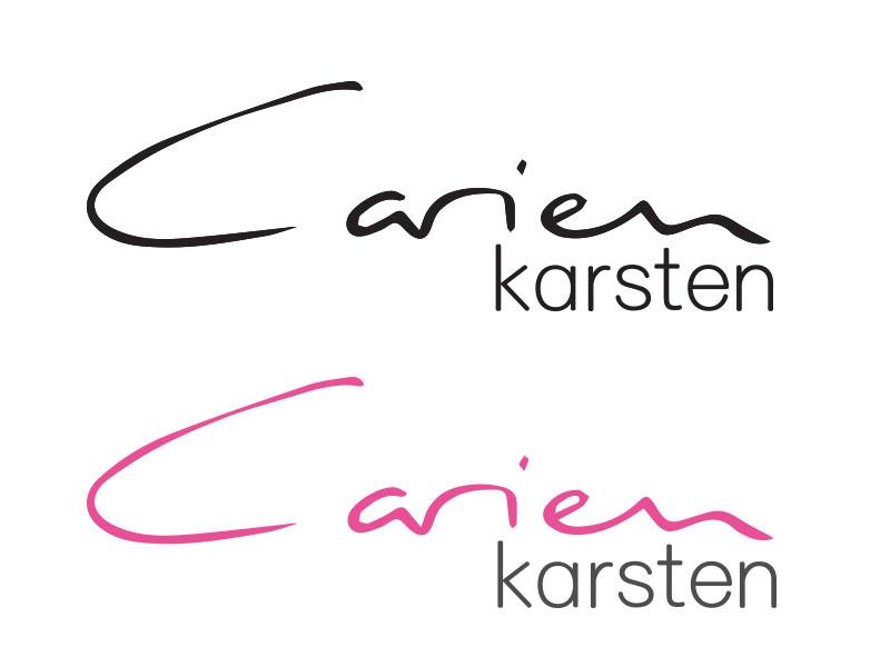 logo Carien Karsten kleur en zwart