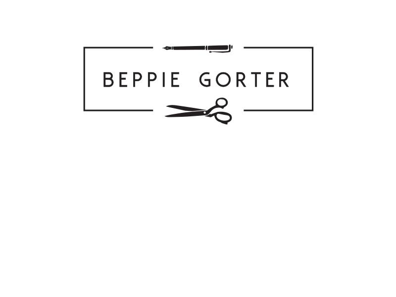logo ontwerp Beppie Gorter; marketeer, redacteur, kleermaker